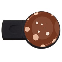 Brown abstract design USB Flash Drive Round (1 GB)