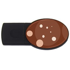 Brown abstract design USB Flash Drive Oval (2 GB)