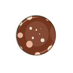 Brown abstract design Hat Clip Ball Marker