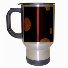 Brown abstract design Travel Mug (Silver Gray)