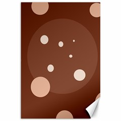 Brown abstract design Canvas 12  x 18