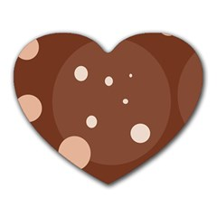 Brown abstract design Heart Mousepads