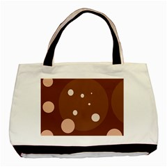 Brown abstract design Basic Tote Bag (Two Sides)
