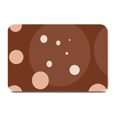 Brown abstract design Plate Mats