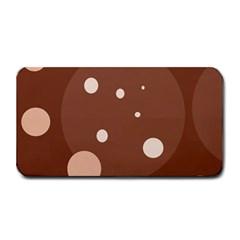Brown abstract design Medium Bar Mats
