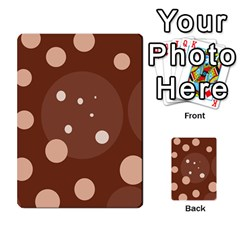 Brown abstract design Multi-purpose Cards (Rectangle)
