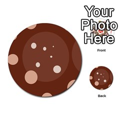 Brown abstract design Multi-purpose Cards (Round)