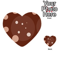 Brown abstract design Multi-purpose Cards (Heart)