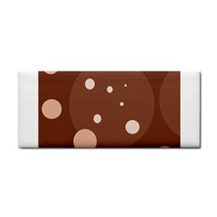 Brown abstract design Hand Towel