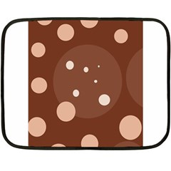 Brown abstract design Double Sided Fleece Blanket (Mini)
