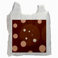 Brown abstract design Recycle Bag (One Side)