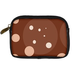 Brown abstract design Digital Camera Cases