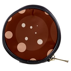 Brown abstract design Mini Makeup Bags