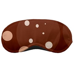 Brown abstract design Sleeping Masks