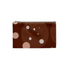 Brown abstract design Cosmetic Bag (Small)