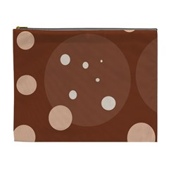 Brown abstract design Cosmetic Bag (XL)