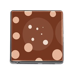 Brown abstract design Memory Card Reader (Square)