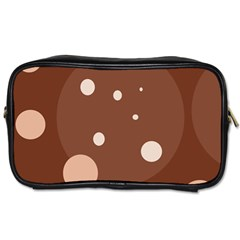 Brown abstract design Toiletries Bags