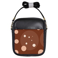 Brown abstract design Girls Sling Bags