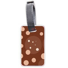 Brown abstract design Luggage Tags (One Side)