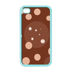 Brown abstract design Apple iPhone 4 Case (Color)