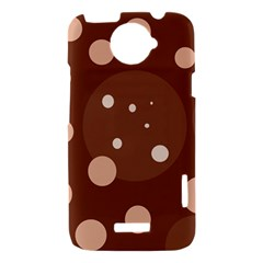 Brown abstract design HTC One X Hardshell Case