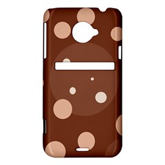Brown abstract design HTC Evo 4G LTE Hardshell Case
