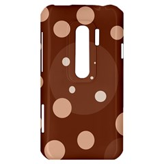 Brown abstract design HTC Evo 3D Hardshell Case