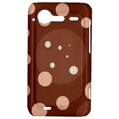 Brown abstract design HTC Incredible S Hardshell Case
