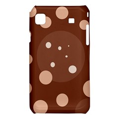 Brown abstract design Samsung Galaxy S i9008 Hardshell Case