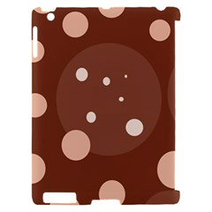 Brown abstract design Apple iPad 2 Hardshell Case (Compatible with Smart Cover)