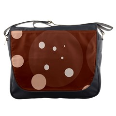 Brown abstract design Messenger Bags