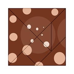 Brown abstract design Acrylic Tangram Puzzle (6  x 6 )