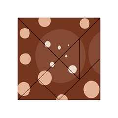 Brown abstract design Acrylic Tangram Puzzle (4  x 4 )