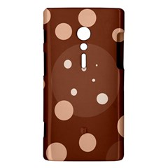 Brown abstract design Sony Xperia ion