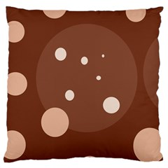 Brown abstract design Large Cushion Case (Two Sides)