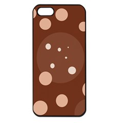 Brown abstract design Apple iPhone 5 Seamless Case (Black)