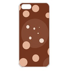 Brown abstract design Apple iPhone 5 Seamless Case (White)