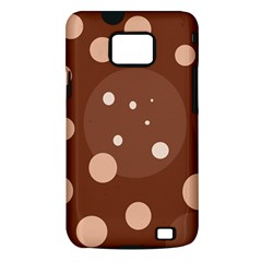 Brown abstract design Samsung Galaxy S II i9100 Hardshell Case (PC+Silicone)