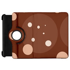 Brown abstract design Kindle Fire HD Flip 360 Case