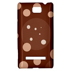 Brown abstract design HTC 8S Hardshell Case