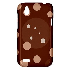 Brown abstract design HTC Desire V (T328W) Hardshell Case