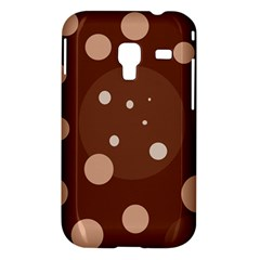 Brown abstract design Samsung Galaxy Ace Plus S7500 Hardshell Case
