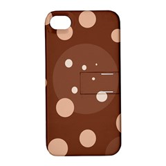 Brown abstract design Apple iPhone 4/4S Hardshell Case with Stand