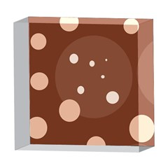 Brown abstract design 5  x 5  Acrylic Photo Blocks