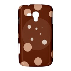 Brown abstract design Samsung Galaxy Duos I8262 Hardshell Case