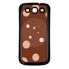 Brown abstract design Samsung Galaxy S3 Back Case (Black)
