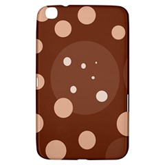 Brown abstract design Samsung Galaxy Tab 3 (8 ) T3100 Hardshell Case