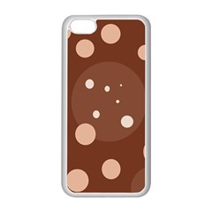 Brown abstract design Apple iPhone 5C Seamless Case (White)