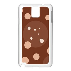 Brown abstract design Samsung Galaxy Note 3 N9005 Case (White)